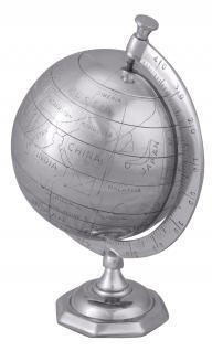Deko Weltkugel A149, Globus, Aluminium, 35x22x22cm - Vorschau 2