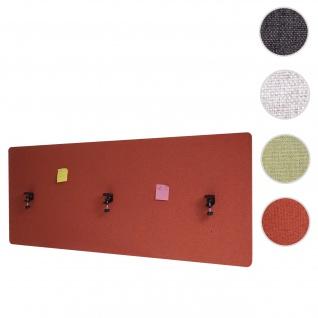 Akustik-Tischtrennwand HWC-G75, Büro-Sichtschutz Schreibtisch Pinnwand, doppelwandig Stoff/Textil ~ 160x60cm braun