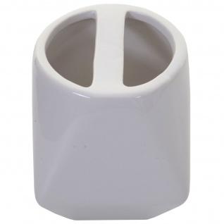 5-teiliges Badset HWC-C71, WC-Garnitur Badezimmerset Badaccessoires, Keramik ~ weiß - Vorschau 3