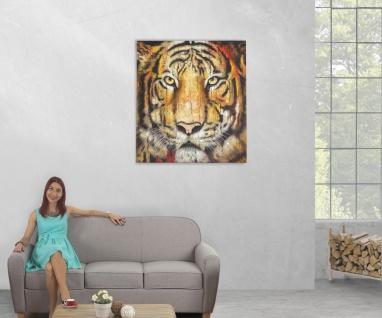 Ölgemälde Tiger, 100% handgemaltes Wandbild XL, 100x90cm - Vorschau 5