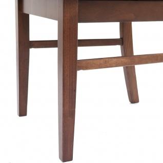 2x Esszimmerstuhl HWC-G62, Küchenstuhl Lehnstuhl Stuhl, Stoff/Textil Massiv-Holz Landhaus dunkles Gestell, grau - Vorschau 5