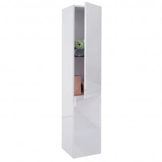 Hängeschrank HWC-B19, Midischrank Hochschrank Badezimmer Badmöbel, hochglanz 150x30cm ~ weiß - Vorschau 2