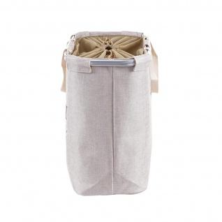 Wäschesammler HWC-C34, Laundry Wäschebox Wäschekorb Wäschebehälter mit Kordelzug, 2 Fächer Henkel 54x52x32cm 89l - Vorschau 5