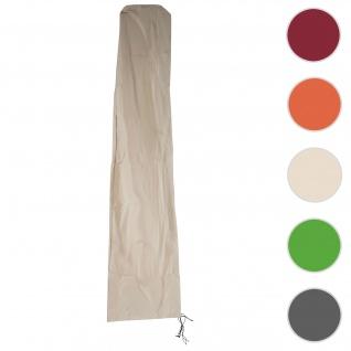 Schutzhülle HWC für Ampelschirm bis 4 m, Abdeckhülle Cover mit Reißverschluss ~ creme