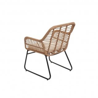 Polyrattan Garnitur HWC-G17a, Gartengarnitur Sofa Set Sitzgruppe ~ naturfarben, Polster creme ohne Dekokissen - Vorschau 4