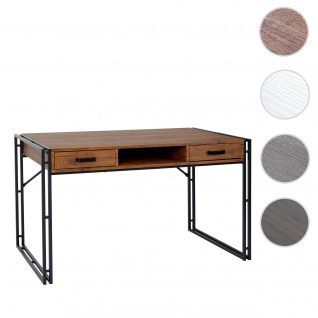 Schreibtisch HWC-A27, Bürotisch Computertisch, 122x70cm 3D-Struktur ~ Wildeiche-Optik