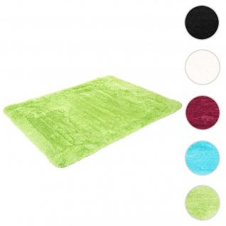 Teppich HWC-F69, Shaggy Läufer Hochflor Langflor, Stoff/Textil flauschig weich 200x140cm ~ hellgrün
