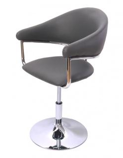 Esszimmerstuhl Dema, Drehstuhl Stuhl, Kunstleder ~ grau