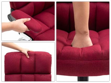 Bürostuhl HWC-J21, Chefsessel Drehstuhl Schreibtischstuhl, höhenverstellbar ~ Stoff/Textil weinrot - Vorschau 4