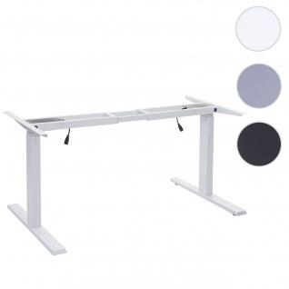 Gestell HWC-D40, variables Tischgestell für Schreibtisch, elektrisch höhenverstellbar Memory 29kg ~ weiß