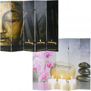 Foto-Paravent Buddha, Paravent Raumteiler Trennwand 180x200 cm