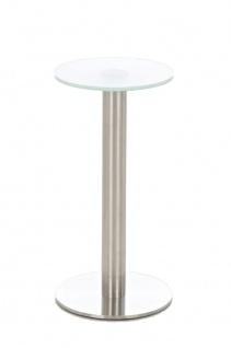 Beistelltisch CP306, Glastisch Couchtisch ~ milchglas