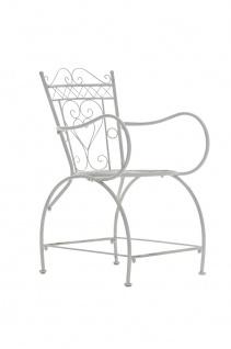 Gartenstuhl CP333, Bistrostuhl Stuhl, Metall ~ antik-weiß