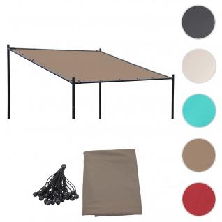 Bezug für Dach Pergola Pavillon HWC-A22, Ersatzbezug, 3x3m 250g/m² UV30+ ~ taupe