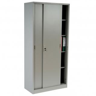 Aktenschrank Boston T131, Metallschrank Büroschrank Stahlschrank, 43kg 180x85x40cm ~ grau