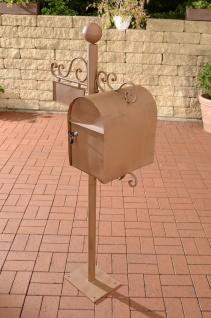Briefkasten CP084, Postkasten ~ antik-braun