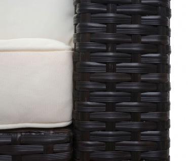 Poly-Rattan Garnitur HWC-F57, Balkon-/Garten-/Lounge-Set Sofa Sitzgruppe ~ braun, Kissen creme ohne Deko-Kissen - Vorschau 4