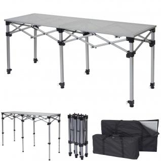 Multifunktionstisch HWC-A23, Tisch Klapptisch Bartisch Werktisch Falttisch, höhenverstellbar ~ 180cm