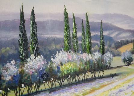 Ölgemälde Blumenlandschaft, 100% handgemalt, 80x80cm - Vorschau 3