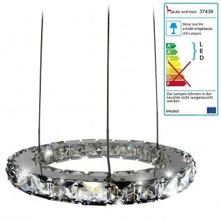 LED-Hängeleuchte HW152, Deckenlampe, Kristallglas 8W EEK A