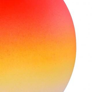 Tischleuchte Dimmer ~ Nickel matt, Glas opal orange - Vorschau 3