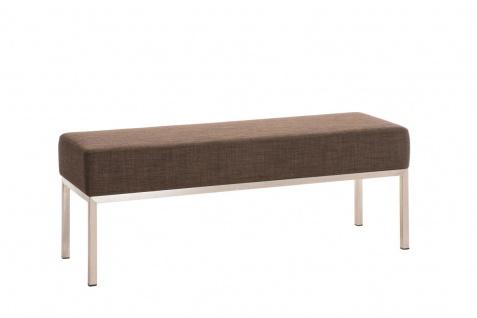 3er Sitzbank CP019, Polsterbank ~ 40x120cm, braun