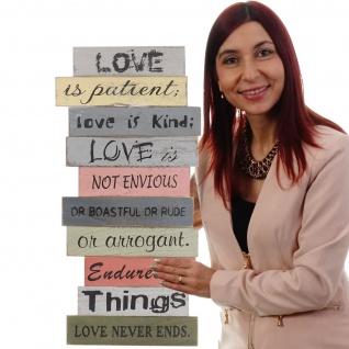 Wandschild Love, Holzschild Schild, Shabby-Look 61cm - Vorschau 4