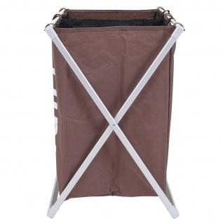Wäschesammler HWC-C36, Laundry Wäschesortierer Wäschekorb, 2 Fächer klappbar 58x59x37cm 127l - Vorschau 4