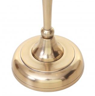 Kerzenleuchter HWC-D81, Kerzenständer Leuchter Kerzenhalter, 3-armig aus Aluminium 40cm massiv 0, 7kg ~ Farbe: Gold - Vorschau 5