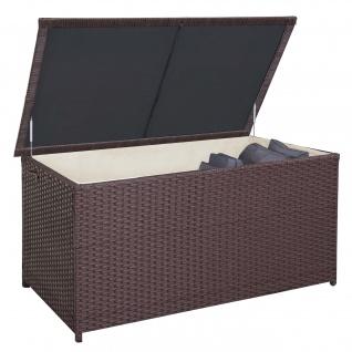 Poly-Rattan Kissenbox HWC-D88, Gartentruhe Auflagenbox Truhe ~ Premium braun, 80x160x94cm 950l - Vorschau 2