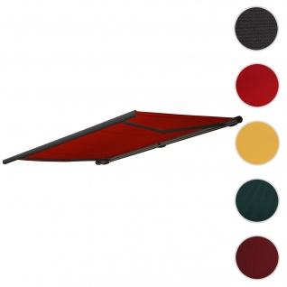 Bezug für Markise T123, Vollkassette Ersatzbezug Sonnenschutz 4, 5x3m ~ Acryl bordeaux-rot