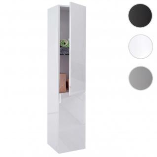 Hängeschrank HWC-B19, Midischrank Hochschrank Badezimmer Badmöbel, hochglanz 150x30cm weiß