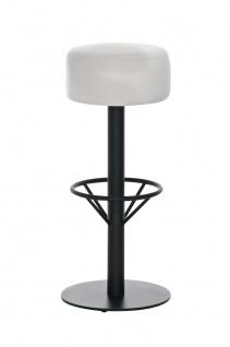 Barhocker CP238, Barstuhl ~ Kunstleder, Gestell schwarz, weiß, 76cm