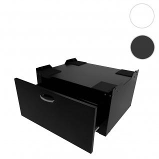 Waschmaschinenunterschrank HWC-E50, Sockel Podest Erhöhung Untergestell, Schublade 33x61x52cm ~ schwarz