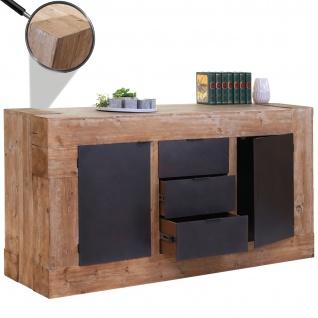 Sideboard HWC-A15, Kommode Schrank Anrichte, Tanne Holz rustikal massiv 90x160x45cm 67kg