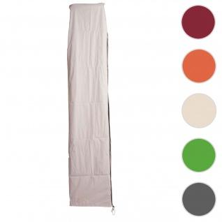 Schutzhülle HWC für Ampelschirm bis 4 m, Abdeckhülle Cover mit Reißverschluss ~ creme-grau