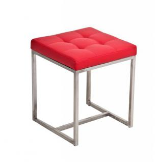 Sitzhocker Barci, Kunstleder ~ rot