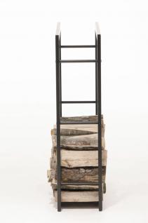 Kaminholzständer CP319, Feuerholzregal 25x100x100 Eisen - Vorschau 5