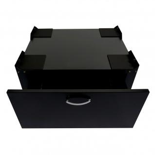 Waschmaschinenunterschrank HWC-E50, Sockel Podest Erhöhung Untergestell, Schublade 33x61x52cm - Vorschau 3