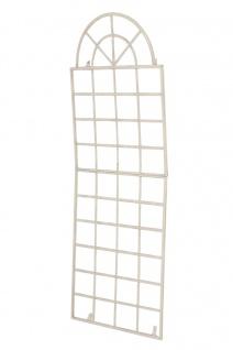 Wandrankhilfe CP371, Rankhilfe Rankgitter, Eisen ~ 180cm, antik-creme