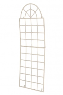 Wandrankhilfe CP371, Rankhilfe Rankgitter, Eisen 180cm, antik-creme