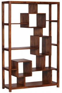 Design Bücherregal Malatya, Standregal Regal, Sheesham Massivholz, 180x115x40cm