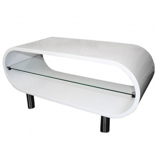 TV-Rack Lounge-Tisch Fernsehtisch M10313 weiß