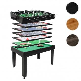 Tischkicker HWC-J15, Tischfußball Billard Hockey 7in1 Multiplayer Spieletisch, MDF 82x107x60cm ~ schwarz
