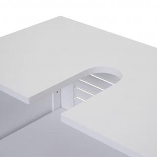 Badezimmerset HWC-F75, Badmöbel-Set 2x Hochschrank Waschbeckenunterschrank Wandspiegel, Landhaus weiß - Vorschau 5