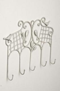 Garderobenhaken CP332, Garderobe Wandgarderobe Wandhaken weiß