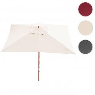 Sonnenschirm Florida, Gartenschirm Marktschirm, 3x4m Polyester/Holz 6kg ~ creme
