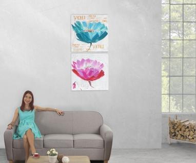 Ölgemälde Orchidee, 100% handgemaltes Wandbild XL, 100x50cm - Vorschau 5