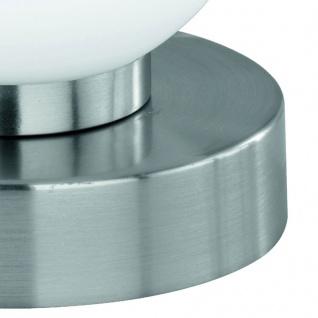 Tischleuchte Dimmer ~ Nickel matt, Glas opal weiß - Vorschau 2