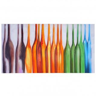 Ölgemälde Flaschen, 100% handgemaltes Wandbild Gemälde XL, 135x70cm